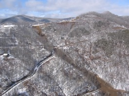 Ghost Town Slide, Maggie Valley, Haywood County, January 2011