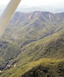 Peeks Creek Landslide, Macon County, September 2004.